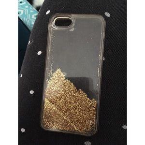 Accessories - iPhone SE/5s/5c Gold Glitter Case